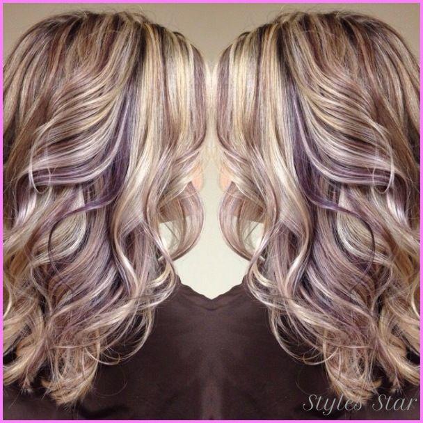 Awesome Blonde Hair With Purple Lowlights Balyaj Ve Sa 231