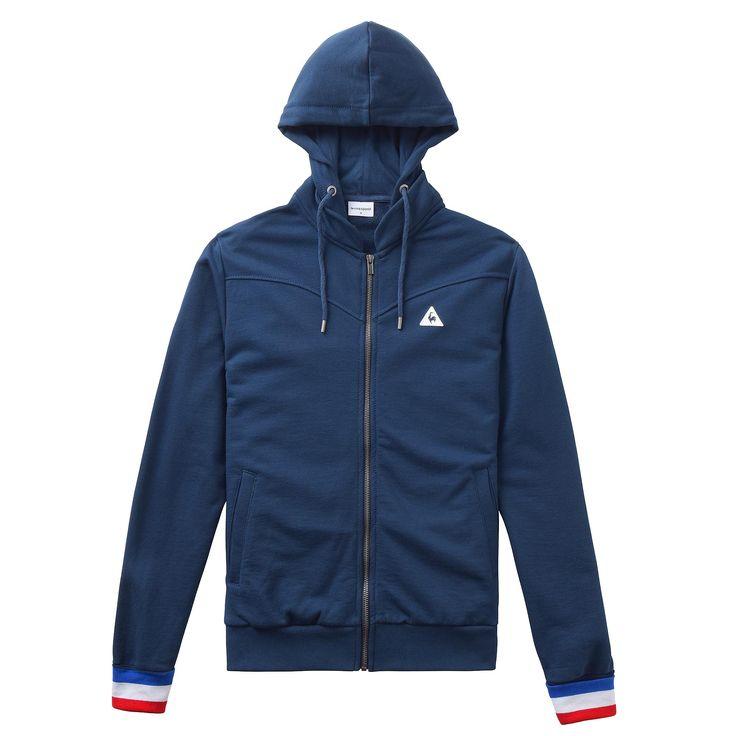 Sweat à capuche zippé Tricolore - 1621890