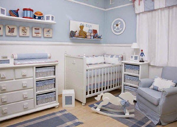 Dormitorios colores y estilos: Fotos de dormitorios para bebés varones