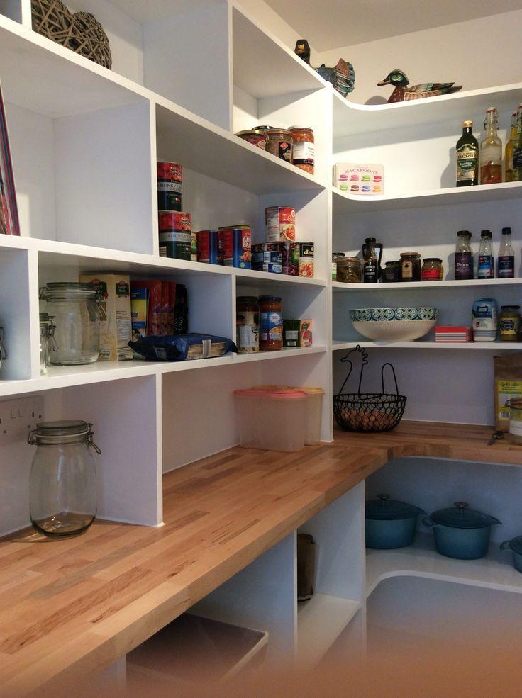 Unique Large Pantry Design Shelves Interior Appliance