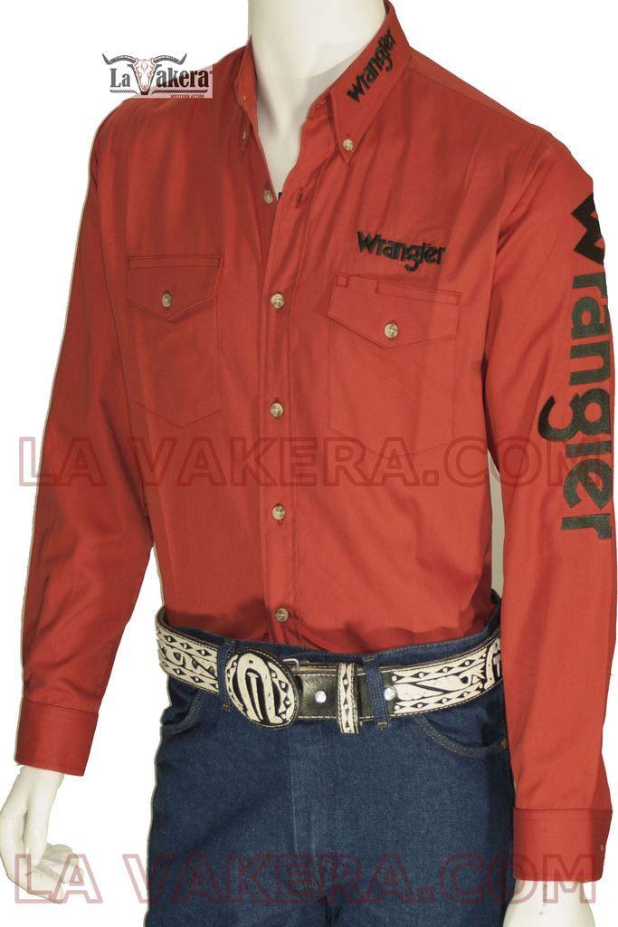 Camisa Vaquera Wrangler Modelo WRA170 ROJO SHEDRÓN  379157d75ee