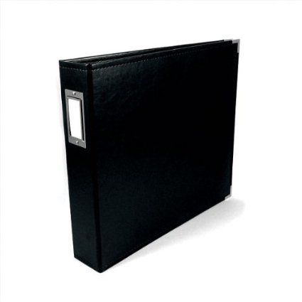 Amazon.com - We R Memory Keepers Classic Leather 3-Ring Album - 8.5 x 11 inch, Black - Three Ring Binder Albums