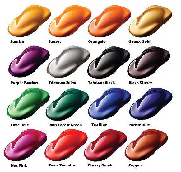 custom candy car paint colors, candy paint pearls