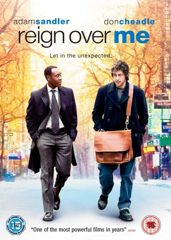 REIGN OVER ME: Adam Sandler, Don Cheadle - 2007 I really like this film. Deals with the aftermath of 9/11.