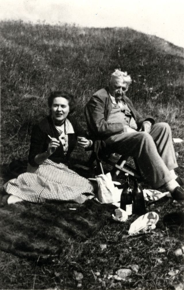 Composersdoingnormalshit: U201c Ralph Vaughan Williams Having A Sad Picnic With  His Wife. U201d Happy