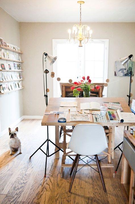 5 inspiring workspaces forcreatives via @pikaland // Gwendolyn of Dear Hancock's studio