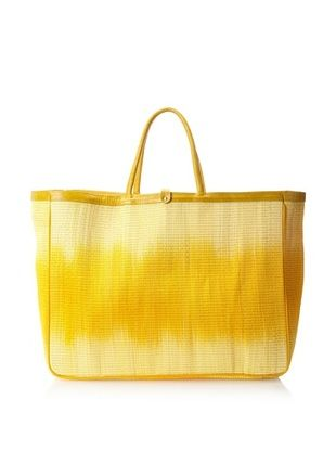 60% OFF Florabella Women's Cascais Buntal Straw and Leather Tote, Sunflower