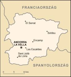 Andorra térkép