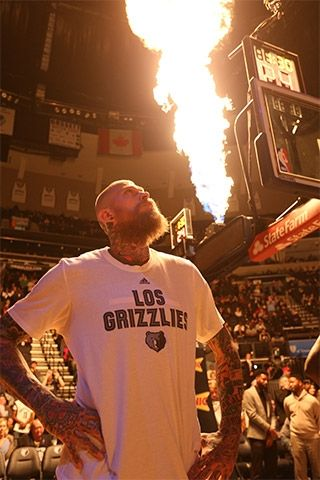 Chris Andersen aka Birdman aka Grizzilla...love!