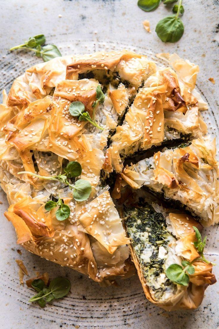 Greek Spinach and Feta Pie (Spanakopita) @hbharvest