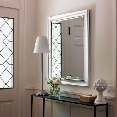 ThresholdTM Silver Beaded Wall Mirror