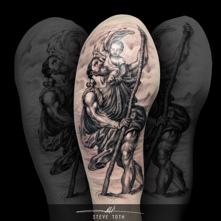 St. Christopher Saint Christopher tattoo  - Steve Toth
