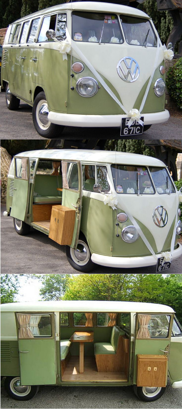 """""""Pistachio"""" 1960s VW camper ideal for special occasions #vwcamper #camping #camper"""
