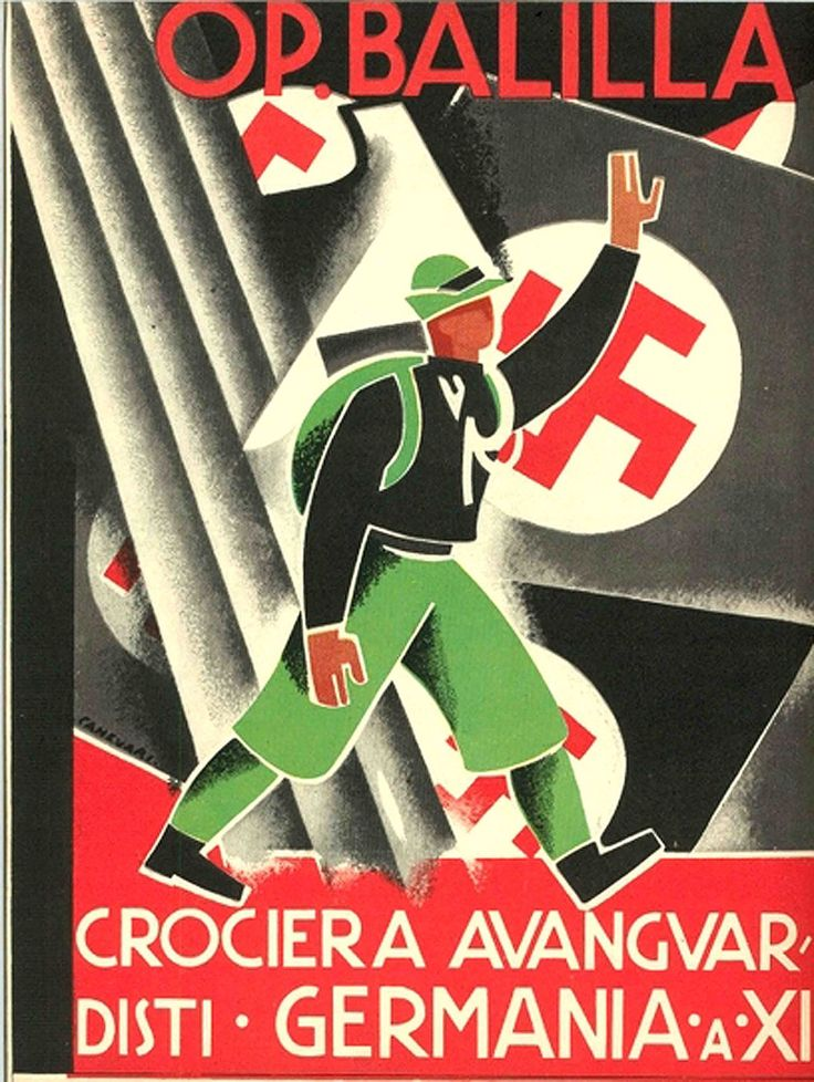 OP. Balilla - Crociera Avanguardisti, 1933. Opera Nazionale Balilla (ONB) was an Italian Fascist youth organization functioning between 1926 and 1937, when it was absorbed into the Gioventù Italiana del Littorio (GIL), a youth section of the National Fascist Party.