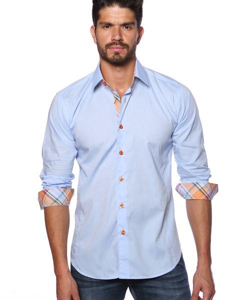 Jared lang shirts - Light blue designer shirt for men