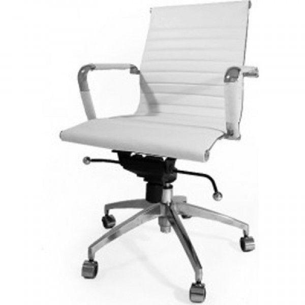Bureaustoel Wit Design.Director Bureaustoel Wit Leer Home Decor Office Chair