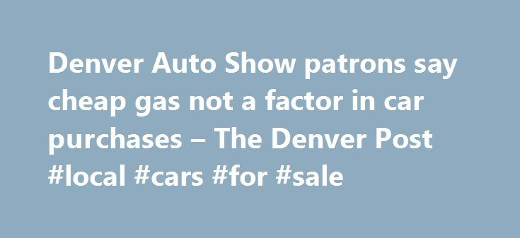 """Denver Auto Show patrons say cheap gas not a factor in car purchases – The Denver Post #local #cars #for #sale http://auto.remmont.com/denver-auto-show-patrons-say-cheap-gas-not-a-factor-in-car-purchases-the-denver-post-local-cars-for-sale/  #denver auto show # Denver Auto Show patrons say cheap gas not a factor in car purchases p1.jpg"""" /% Ten-year-old Joshua Santos of Loveland takes the wheel of a 2015 Chevy Silverado 3500 High Country 4WD priced at $34,995 at the Denver Auto Show at the…"""