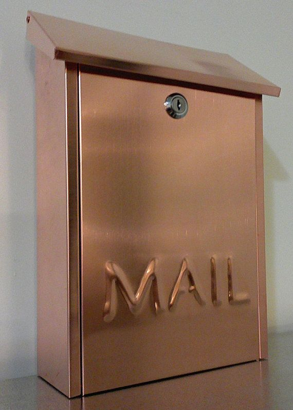 Wall Mounted Copper Mailbox Housewares Outdoor Gardendecor