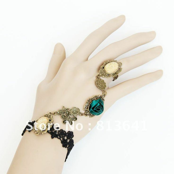 Bracelets with ring   ... Bracelets Fashion Vintage Jewellery For Women ws25-in Charm Bracelets