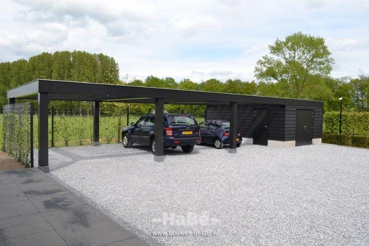 Volledig onderkelderd landhuis - carport