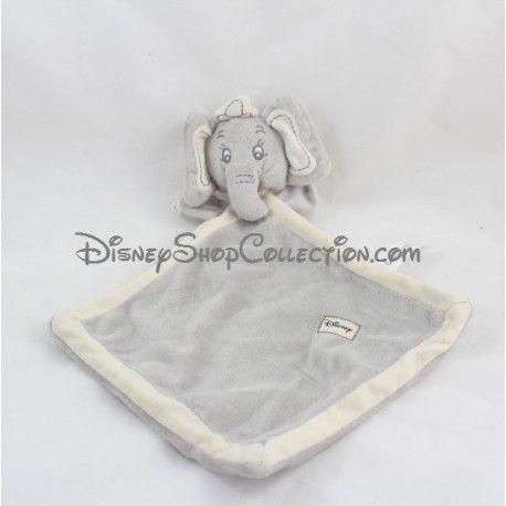 Doudou Dumbo DISNEY NICOTOY éléphant gris beige écusson 35 cm