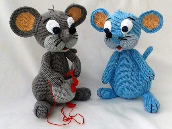 168 besten Háč. myš Bilder auf Pinterest | Gehäkelte spielsachen ...
