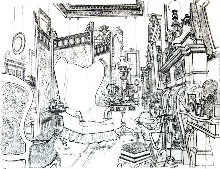 Living Lines Library: One Hundred and One Dalmatians (1961) - Background Layouts