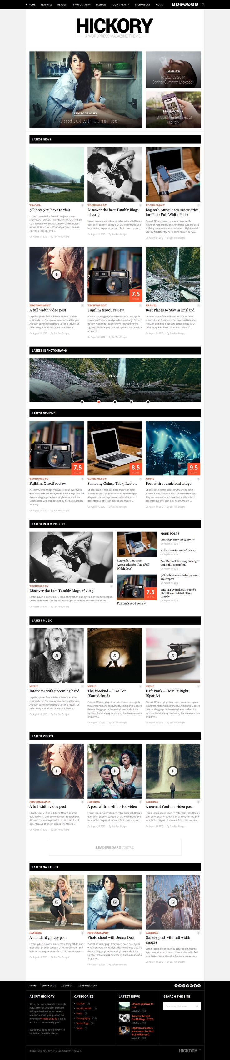 Hickory - A WordPress Magazine Theme | Live Preview and Download: http://themeforest.net/item/hickory-a-wordpress-magazine-theme/5437524?ref=ksioks