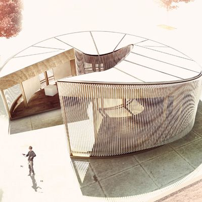 Weaving In-Tension Pavilion by Meta-Studio Architecture