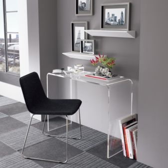 Peekaboo Clear Console Table In Accent Tables
