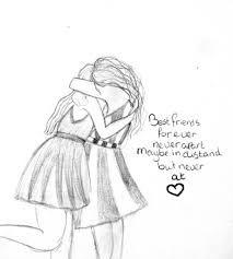 Afbeeldingsresultaat voor cute drawings of best friends