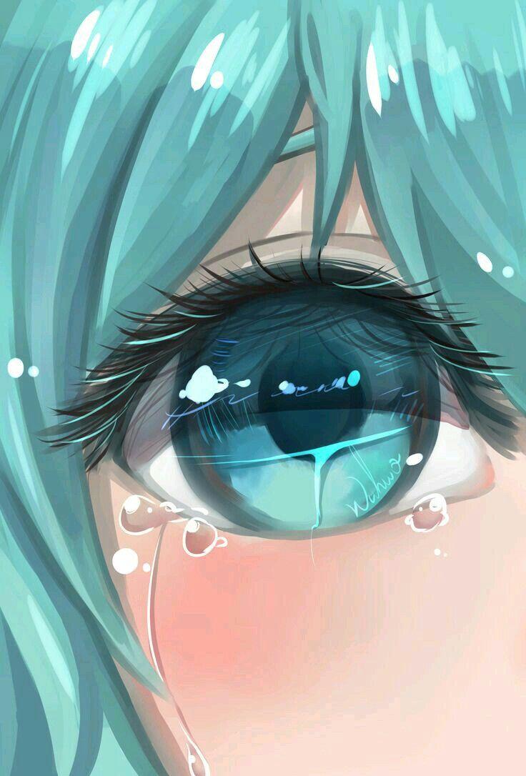 Hatsune Miku Anime Crying Anime Eyes Anime Drawings