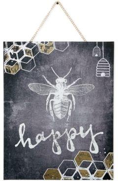 Graham & Brown Graham & Brown Canvas Bee Happy Wall Art