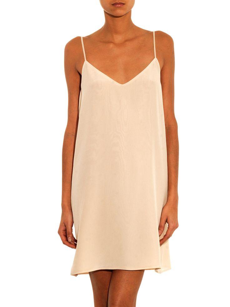 Freda Deep-V silk slip dress