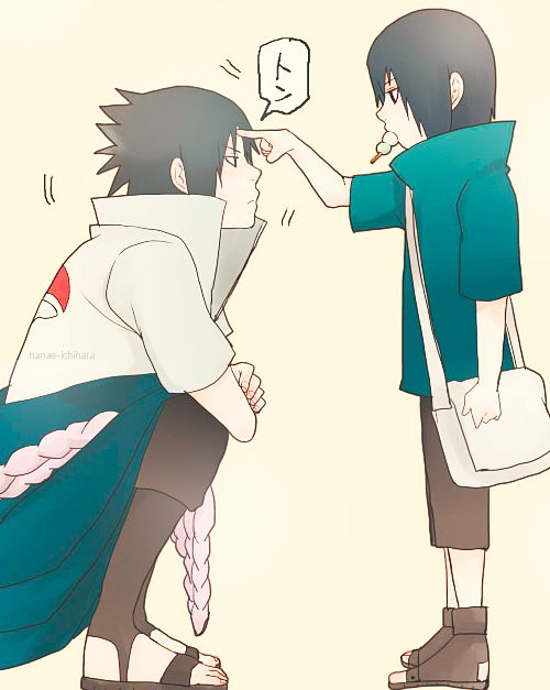 Sasuke and little Itachi.
