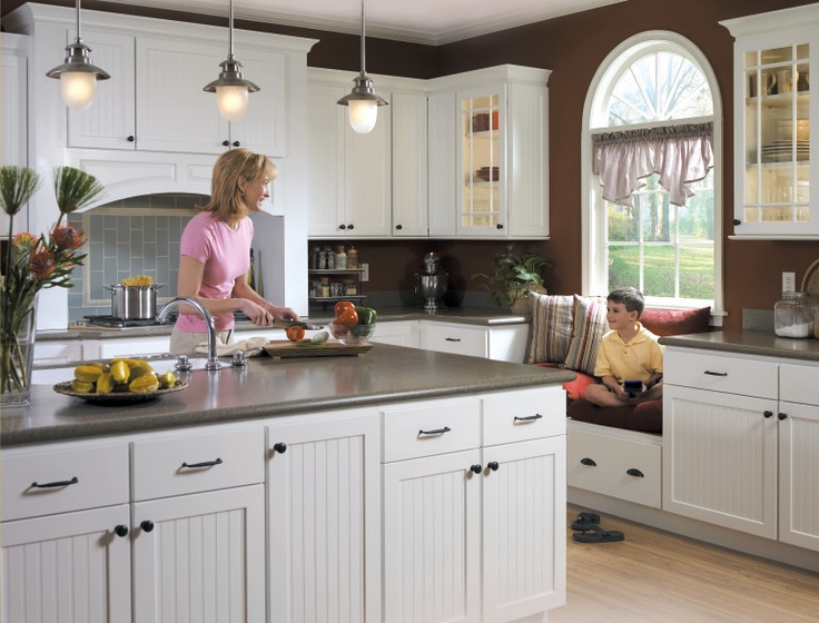 61 best homecrest cabinetry images on pinterest for Black beadboard kitchen cabinets