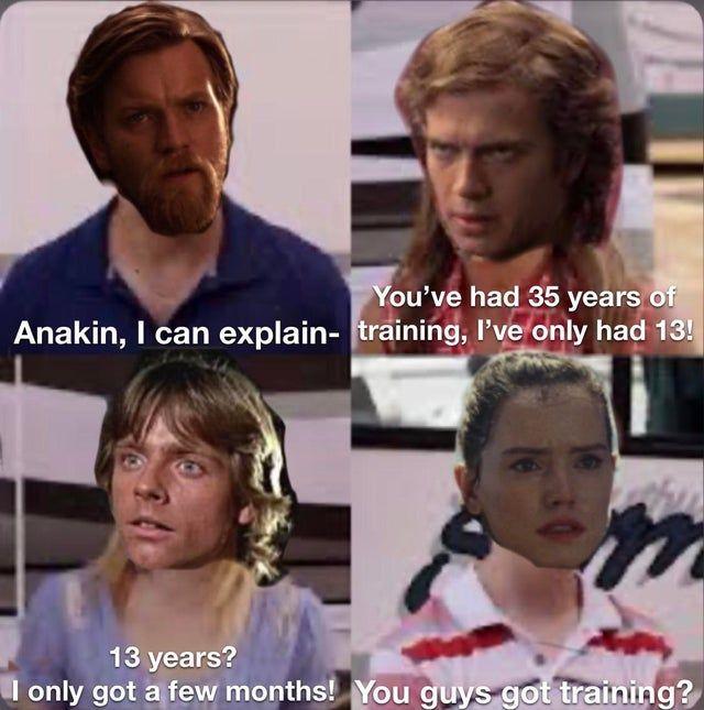 How Long Was Luke On Dagobah Anyway Prequelmemes Star Wars Humor Star Wars Jokes Star Wars Memes