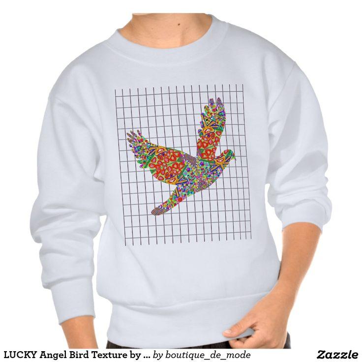 LUCKY Angel Bird Texture by Navin Joshi Artist Pull Over Sweatshirt