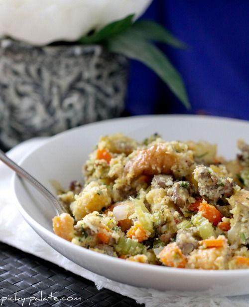 sourdough and cornbread stuffing