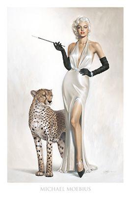 Marilyn Monroe Artwork by Michael Moebius