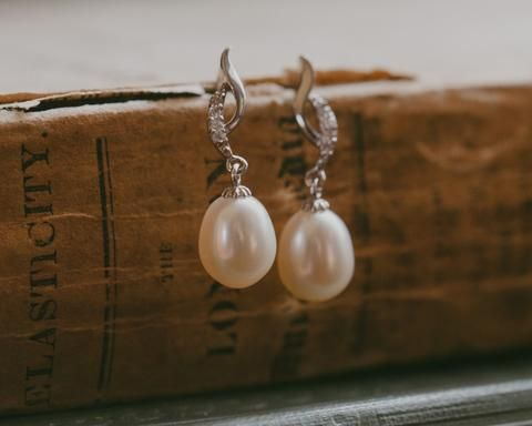 Delicate Freshwater Pearl Earrings, Bolero