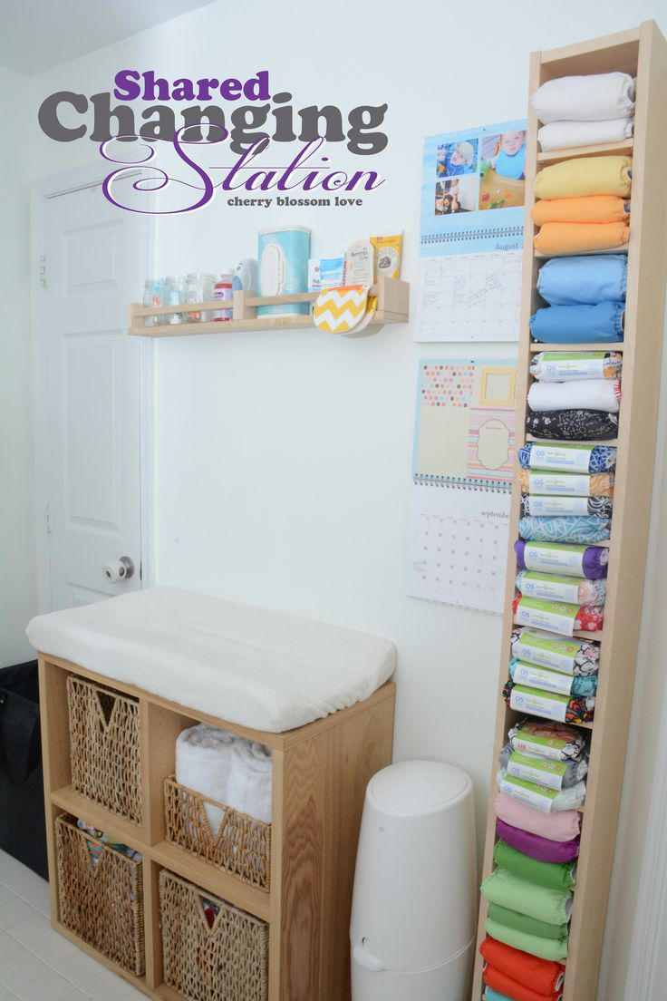 Making This Home Ours: Shared Changing Station - Perfect solution for multiples in cloth.