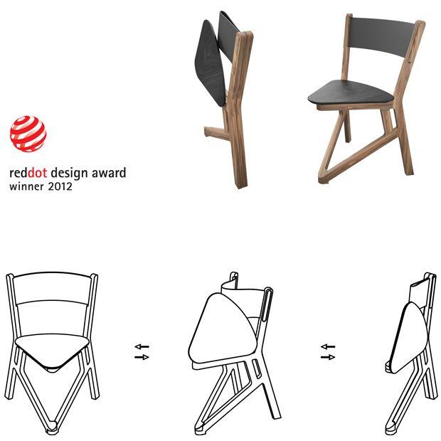 Andrea Borgogni - folding wooden chair wins red dot award