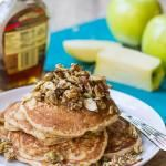 ... whole wheat apple pancakes with nutty topping more breakfast pancakes