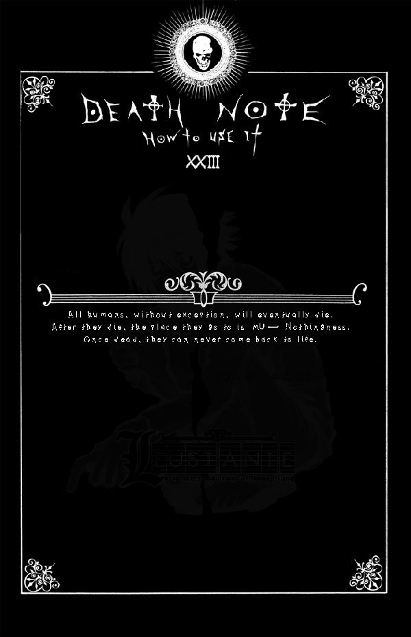 Page 23: DEATH NOTE by Leustante