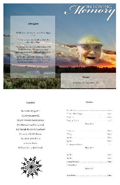 15 best free funeral program images on Pinterest Funeral poems - free funeral program template