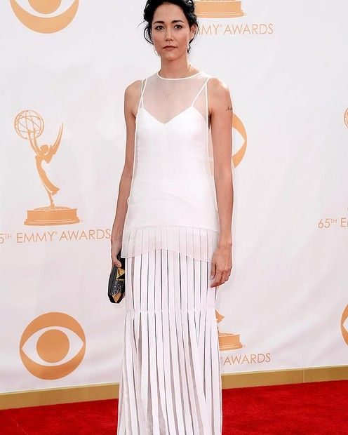 LOS ANGELES, CA - SEPTEMBER 22:  Actress Sandrine Holt arrives at the 65th Annual Primetime Emmy Awards held at Nokia Theatre L.A. Live on S...