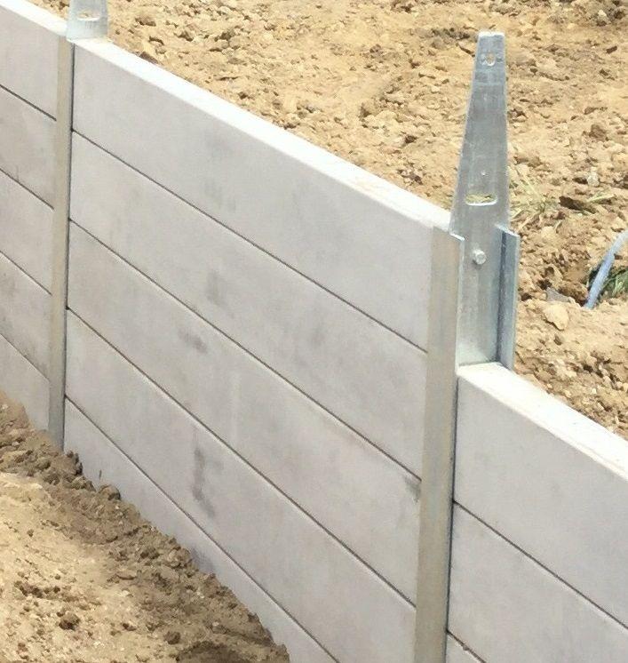 Aussie Concrete Products Garden Retaining Wall Sleeper Retaining Wall Concrete Retaining Walls