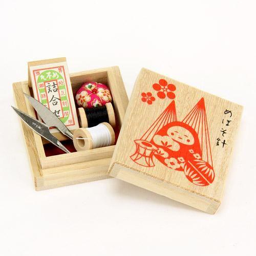 【金沢工芸品】 めぼそ針 小さなお裁縫セット 桐箱