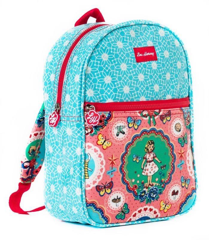 Shop Lou Harvey - Kids Backpack :  Paper Doll and Circle Flower , R380.00 (http://shoplouharvey.com/kids-backpack-paper-doll-and-circle-flower/)